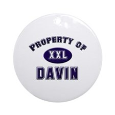 Property of davin Ornament (Round)