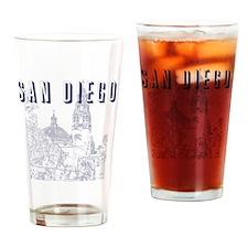 SanDiego_10x10_CaliforniaTower_Blue Drinking Glass