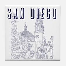 SanDiego_10x10_CaliforniaTower_Blue Tile Coaster