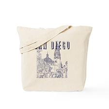 SanDiego_10x10_CaliforniaTower_Blue Tote Bag
