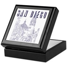 SanDiego_10x10_CaliforniaTower_Blue Keepsake Box