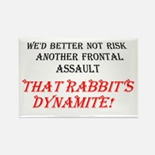 THAT RABBIT'S DYNAMITE Rectangle Magnet