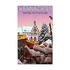 Amberg - Weihnachten Bayern Rectangle Car Magnet
