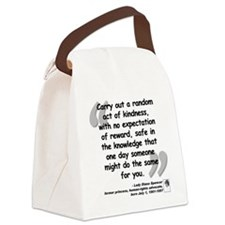 Diana Kindness Quote Canvas Lunch Bag