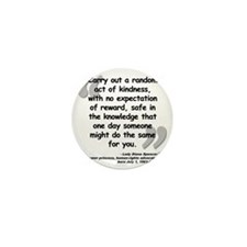 Diana Kindness Quote Mini Button