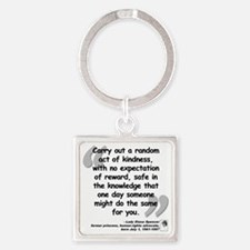 Diana Kindness Quote Square Keychain
