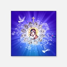 """Mary and Jesus Square Sticker 3"""" x 3"""""""
