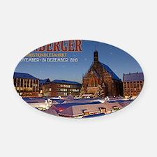 Nurnberg - Christkindlmarkt Night  Oval Car Magnet