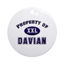Property of davian Ornament (Round)