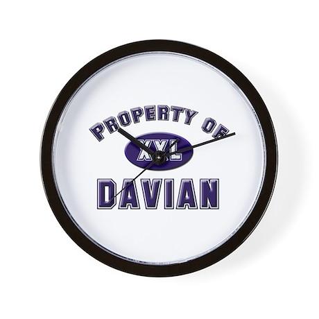 Property of davian Wall Clock