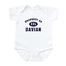 Property of davian Infant Bodysuit