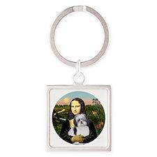 J-ORN-MonaLisa-Shih-A Square Keychain