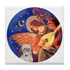 J-ORN-Angel3-ShihTzu=P Tile Coaster