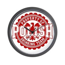 Property of Polish Drinking Team t shir Wall Clock