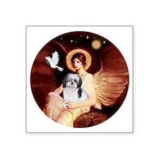 """J-ORN-Angel1-ShihTzu-A Square Sticker 3"""" x 3"""""""