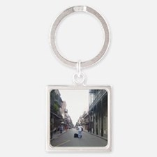 French Quarter musician Square Keychain