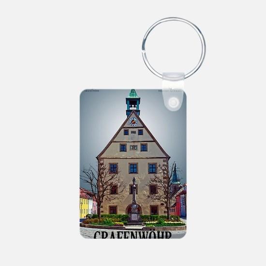 Grafenwoehr Rathaus Front Aluminum Photo Keychain