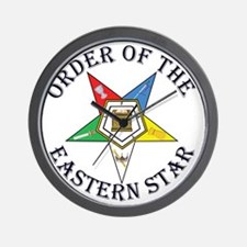 OES STAR LETTERED Wall Clock