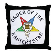 OES STAR LETTERED Throw Pillow