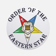 OES STAR LETTERED Round Ornament