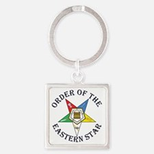 OES STAR LETTERED Square Keychain