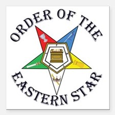 """OES STAR LETTERED Square Car Magnet 3"""" x 3"""""""
