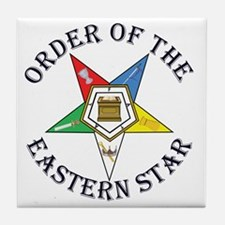 OES STAR LETTERED Tile Coaster