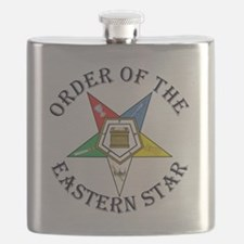 OES STAR LETTERED Flask