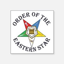 "OES STAR LETTERED Square Sticker 3"" x 3"""