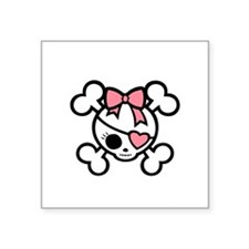 "molly4-diva-pnk-DKT Square Sticker 3"" x 3"""