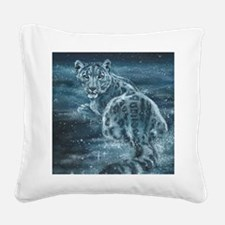 Star Leopard Square Canvas Pillow