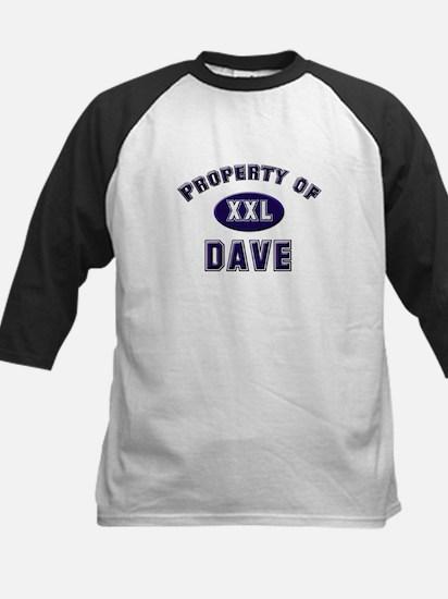 Property of dave Kids Baseball Jersey
