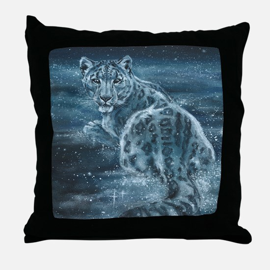 Star Leopard Throw Pillow