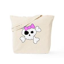 Cute Girly Skull Tote Bag