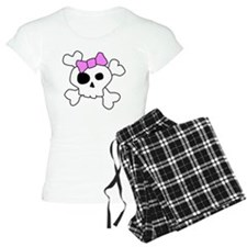 Cute Girly Skull Pajamas