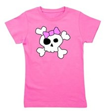 Cute Girly Skull Girl's Tee