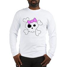 Cute Girly Skull Long Sleeve T-Shirt