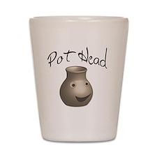 pot-head Shot Glass