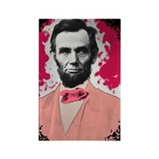 Pink_Lincoln_Rect_Stick Rectangle Magnet