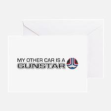 Other-Car-Gundar-blk Greeting Card