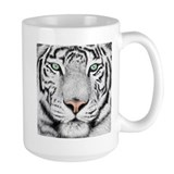 White tiger Large Mugs (15 oz)