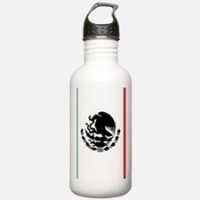 mexican-flag-black-sil Water Bottle