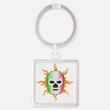 luchador-mask Square Keychain
