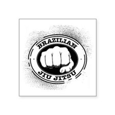 "5 BJJ Square Sticker 3"" x 3"""