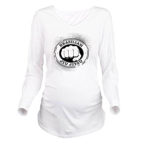 5 BJJ Long Sleeve Maternity T-Shirt