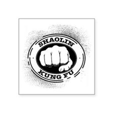 "4 Shaolin Kung Fu Square Sticker 3"" x 3"""