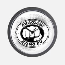 4 Shaolin Kung Fu Wall Clock