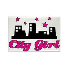 City-Girl Rectangle Magnet