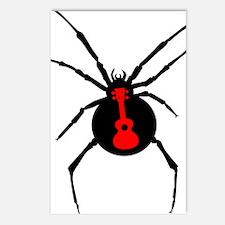 Ukulele Spider Postcards (Package of 8)