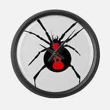 Ukulele Spider Large Wall Clock